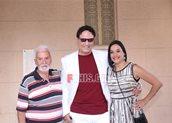 Η Κατερίνα Τσάβαλου με τον πατέρα της και τον Χάρη Ρώμα