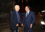 Ο πρόεδρος του Ομίλου ΑΝΤΕΝΝΑ Θοδωρής Μ. Κυριακού και ο Γιώργος Παπαδάκης