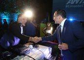 Ο πρόεδρος του Ομίλου ΑΝΤΕΝΝΑ Θοδωρής Μ. Κυριακού και ο Γρηγόρης Αρναούτογλου