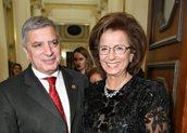 Ο Γιώργος Πατούλης και η Λυδία Ιωαννίδου Μουζάκα