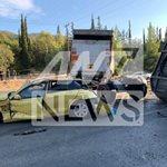 Σφοδρή σύγκρουση οχημάτων στην Αθηνών- Κορίνθου
