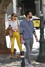 Paparazzi! Δημήτρης Αλεξάνδρου – Μαρία Καλάβρια: Χαλαρή έξοδος στο κέντρο της Αθήνας