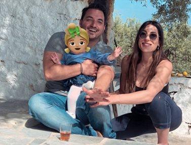 Φλορίντα Πετρουτσέλι - Άρης Γούτος: Βάφτισαν την ενός έτους κόρη τους