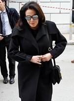 Περικλής Παναγόπουλος: Συντετριμμένη η Κατερίνα Παναγοπούλου στην κηδεία του συζύγου της