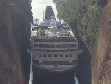 Κρουαζιερόπλοιο 200 μέτρων πέρασε από τη Διώρυγα της Κορίνθου! (Φωτογραφίες)