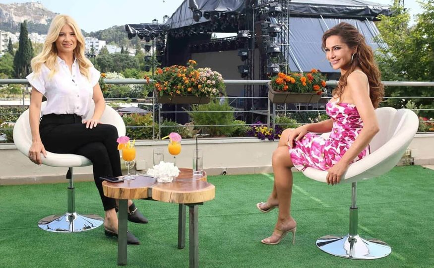 Η Δέσποινα Βανδή καλεσμένη στο Πρωινό με τη Φαίη Σκορδά - Δείτε φωτογραφίες