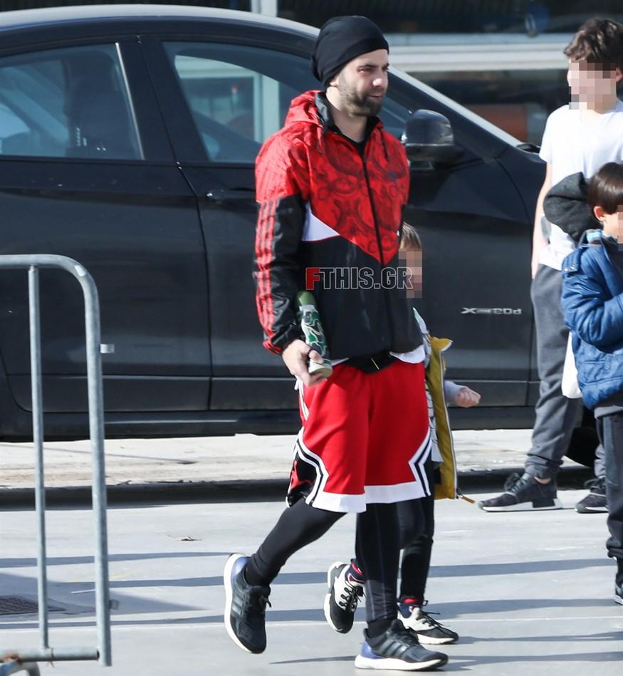 Θοδωρής Μαραντίνης: Για πρωινή γυμναστική παρέα με τους γιους του!