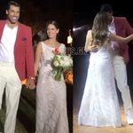 Γιώργος Πρίντεζης – Στέλλα Κωστοπούλου: Η άφιξη του γαμπρού και της νύφης στη δεξίωση και ο γαμήλιος χορός