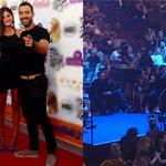Δείτε τι έκανε η Χριστίνα Μπόμπα όταν ο Σάκης Τανιμανίδης έδινε βραβείο στα MAD VMA 2017