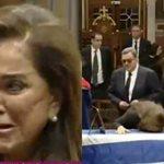 Ξέσπασε σε κλάματα η Ντόρα Μπακογιάννη πάνω από τη σορό του Κωνσταντίνου Μητσοτάκη