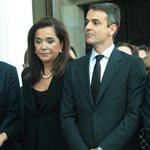 Το τελευταίο αντίο στον Κωνσταντίνο Μητσοτάκη - Καταβεβλημένοι η Ντόρα Μπακογιάννη και ο Κυριάκος Μητσοτάκης