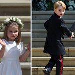 Πρίγκιπας Τζορτζ - Πριγκίπισσα Σάρλοτ: Έκλεψαν τις εντυπώσεις στον γάμο του Πρίγκιπα Χάρι με την Μέγκαν Μαρκλ!