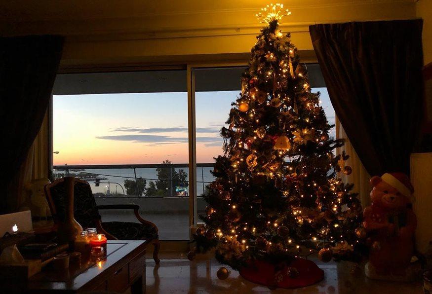Διάσημη Ελληνίδα μας δείχνει το εντυπωσιακό Χριστουγεννιάτικο δέντρο που στόλισε στο σπίτι της!