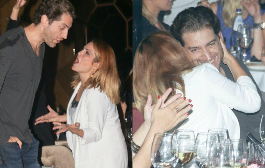 Paparazzi! Τζένη Μπότση - Αλέξανδρος Μιχαλάς: Τα τρυφερά ενσταντανέ σε σπάνια βραδινή τους έξοδο!