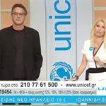 Στην ΕΡΤ 2 για τον Τηλεμαραθώνιο η Ελένη Μενεγάκη - Δείτε την εμφάνισή της, δίπλα στον Κώστα Αρβανίτη