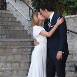 Τζένη Μπαλατσινού – Βασίλης Κικίλιας: Νέες φωτογραφίες μέσα από την εκκλησία την ώρα του γάμου τους