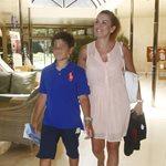 Ευγενία Μανωλίδου: Πρώτη μέρα στο γυμνάσιο για τον γιο της, Περσέα