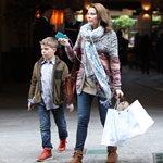 Τζένη Μπαλατσινού: Στο γήπεδο για χάρη του γιου της!