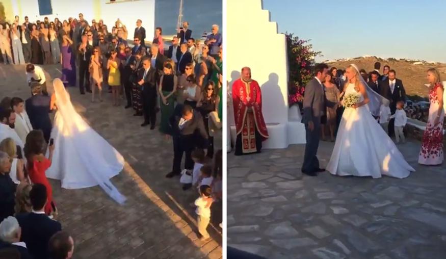 Τα πρώτα πλάνα από τον γάμο της Δούκισσας Νομικού: Δείτε την άφιξη της παρουσιάστριας στην εκκλησία!