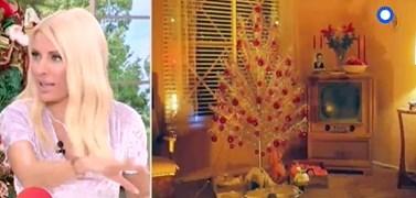 Ελένη Μενεγάκη: Το Χριστουγεννιάτικο δέντρο από τα παιδικά της χρόνια!