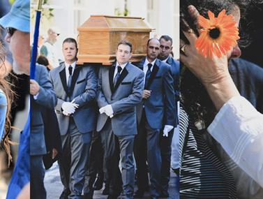 Θλίψη στην κηδεία του ποιητή Νάνου Βαλαωρίτη