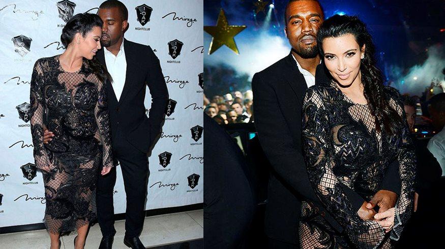 0ab1e7dca38e Ανακοίνωσε την εγκυμοσύνη της και εμφανίστηκε με το πιο διάφανο φόρεμα που  βρήκε στη ντουλάπα της
