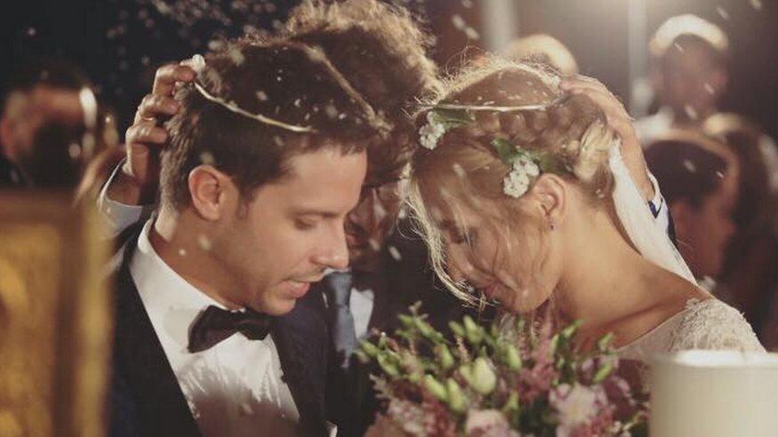 dc6d4f15908c Μακαλιάς - Ψυχράμη  Εικόνες από τον γάμο τους που δεν έδειξαν ποτέ οι  κάμερες - VIDEO