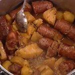 Χωριάτικα λουκάνικα με μπριζολάκια & χειμωνιάτικα λαχανικά από την Αργυρώ