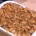 Καρμπονάρα φούρνου με μανιτάρια και κοτόπουλο από την Αργυρώ