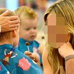 Celebrity μαμά προσπαθεί να κουρέψει το παιδί της και του τάζει γλειφιτζούρι