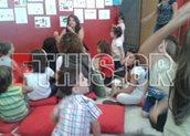 Η Αργυρώ Μπαρμπαρίγου μίλησε στα παιδιά για τη σωστή διατροφή