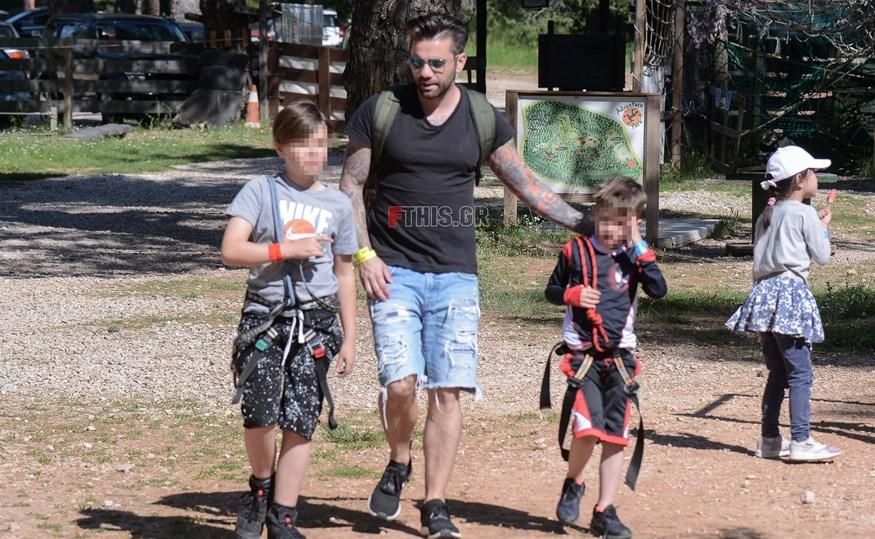 Θοδωρής Μαραντίνης: Ξέγνοιαστες στιγμές με τους γιους του