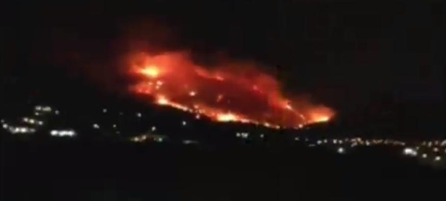 Μεγάλη πυρκαγιά στον Υμηττό! Εκκενώθηκαν σπίτια