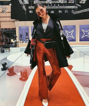 Κωνσταντίνα Σουλτάτη: Η παίκτρια του My Style Rocks στο πλατό της εκπομπής με τον σύντροφό της