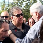 Δημήτρης Σταρόβας: Περίλυπος στην κηδεία του καλού του φίλου, Λαυρέντη Μαχαιρίτσα