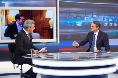 Περισσότεροι από 810.000 τηλεθεατές παρακολούθησαν τη συνέντευξη του κ. Κυριάκου Μητσοτάκη στον ΑΝΤ1