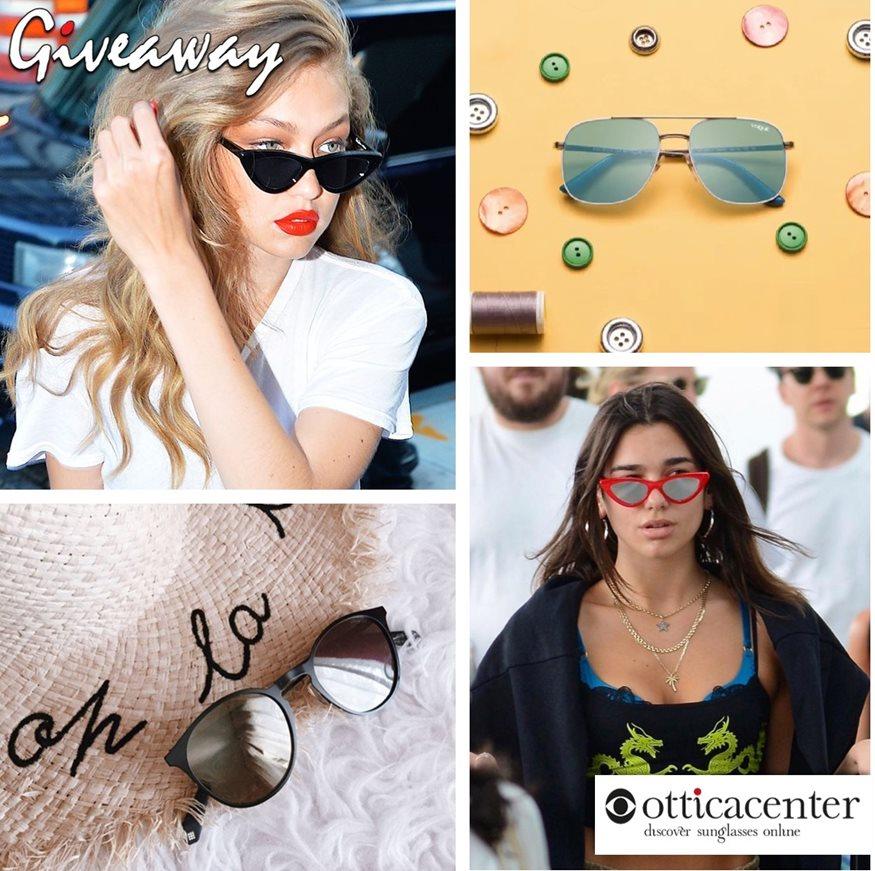 INSTAGRAM ΔΙΑΓΩΝΙΣΜΟΣ – 4 τυχεροί θα κερδίσουν ένα ζευγάρι γυαλιά ηλίου από το OTTICACENTER.GR!