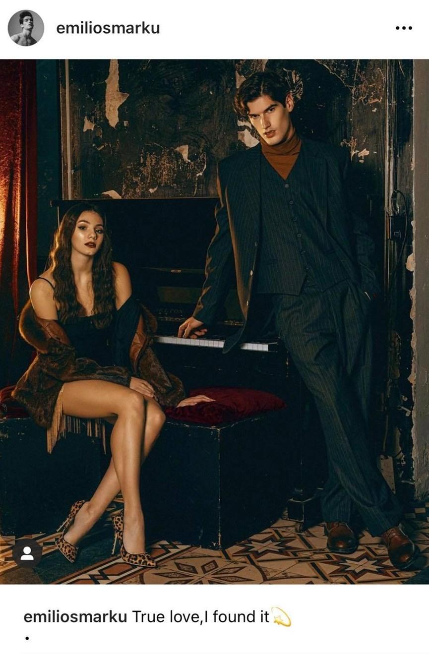 Αιμιλιάνο Μάρκου: Δημοσίευσε στο Instagram την πρώτη κοινή φωτογραφία με την σύντροφό του Μαριαγάπη Ξυπολιά