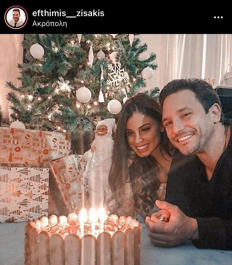 Ευθύμης Ζησάκης: Γιόρτασε τα γενέθλιά του με τη σύντροφό του - Δείτε την εντυπωσιακή τούρτα του ηθοποιού!